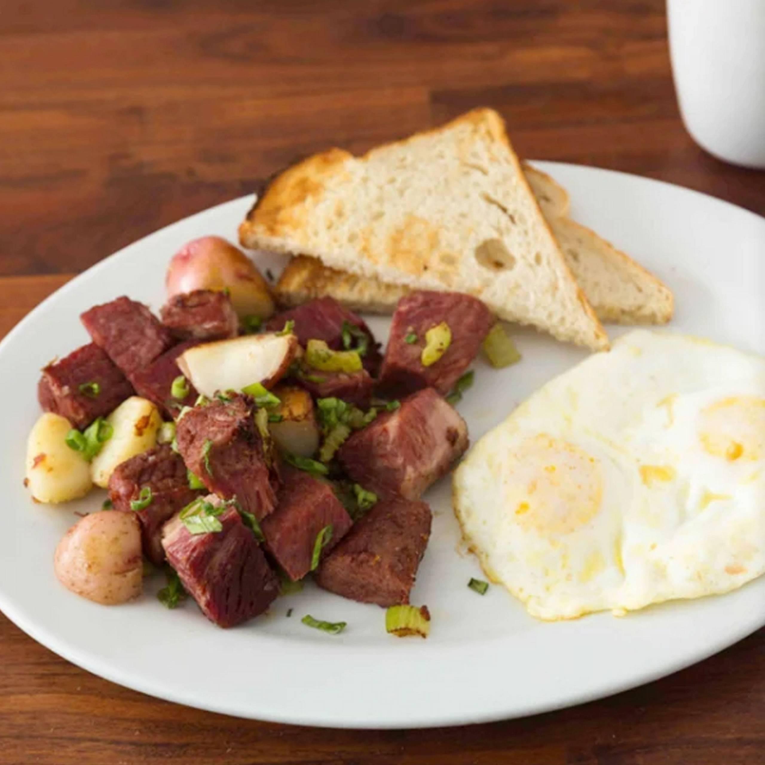 HBC Corned Beef Hash & Eggs