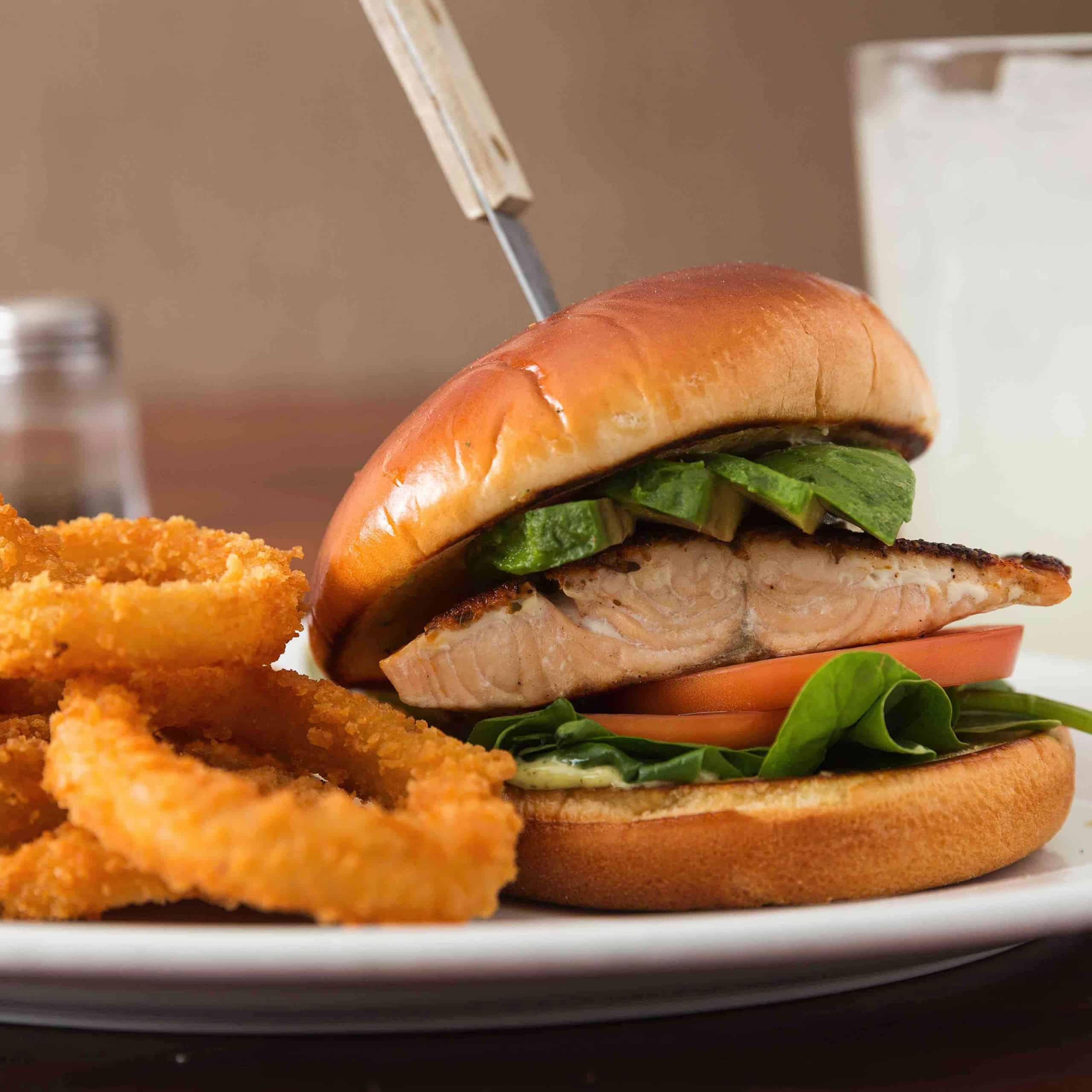 Hollywood Beach Salmon Burger